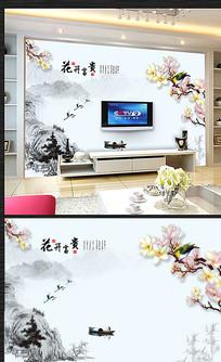 古典中国风电视背景墙