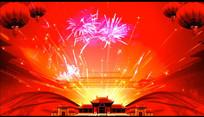 古建故宫欢庆焰火视频素材