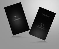 黑色极简商务名片设计 PSD