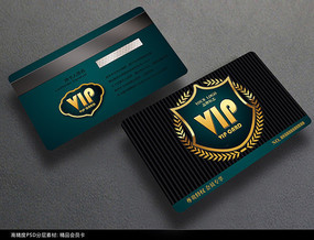 华丽欧式会员卡设计