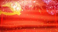 建党节建军节国庆节党旗飘飘背景视频