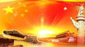 庆祝十一国庆节天安门华表视频