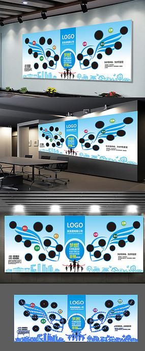 企业个性翅膀创意照片墙展板