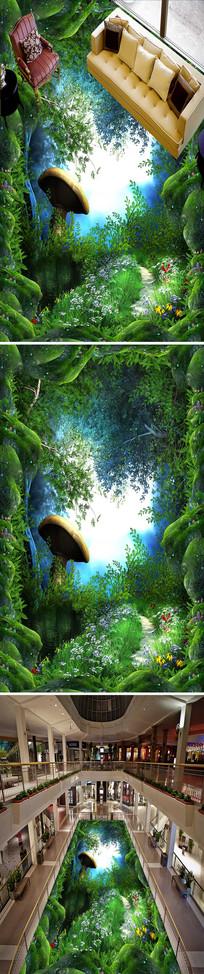 森林小路梦幻立体地画