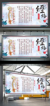 中国风水墨中医养生宣传展板设计