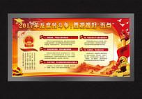 2017反腐败党政建设文化墙展板 PSD