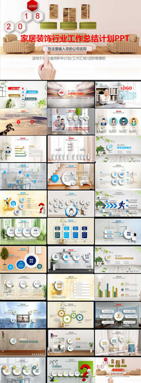 2018家居装饰行业年终工作总结计划PPT