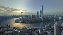 3d上海市中心模型完整渲染场景