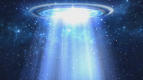 4k高清宇宙星空ufo太空飞船光波粒子