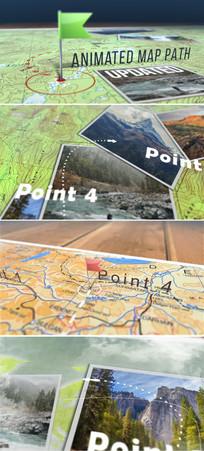 ae三维世界地图位置点模板