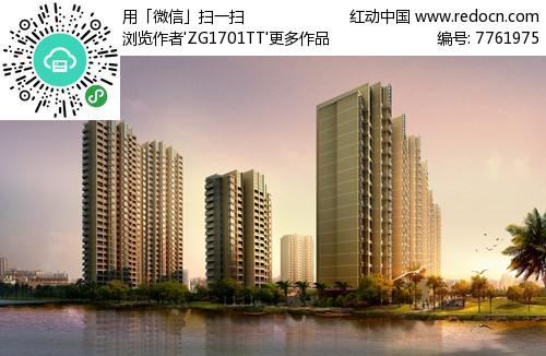 高层建筑群小区景观jpg图片