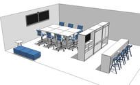 公司会议室空间SU