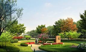 公园小空间植物造景jpg