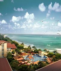 海边度假别墅景观jpg