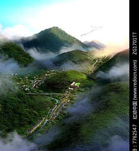 山地古城区建筑鸟瞰jpg