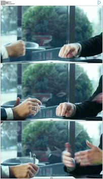 商务合作握手签字实拍视频素材