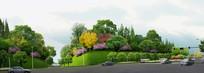 山体植物绿化景观