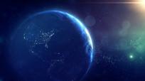 数字科技感宇宙星球地球旋转背景视频