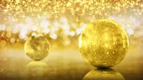 通用金色圣诞节狂欢夜年会视频背景