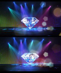 唯美钻石光束背景视频