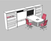 小会议室空间SU