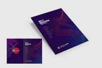 抽象紫色画册封面 PSD