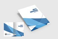 蓝色线条画册封面 PSD