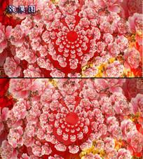 唯美节日富贵红牡丹放花视频背景