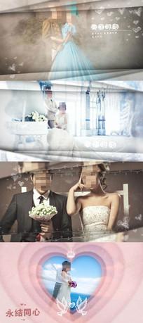 白色温馨婚纱照展示视频模版