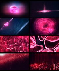 大气红色粒子光线开场片头