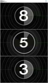 简约白色十秒倒计时动态视频素材