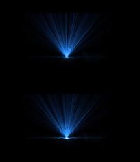 蓝色光束背景视频