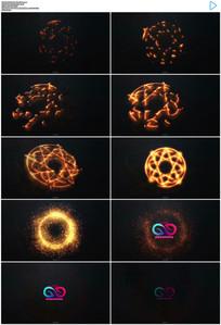 能量火花粒子出logo模板