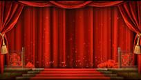 戏曲相声舞台背景视频素材