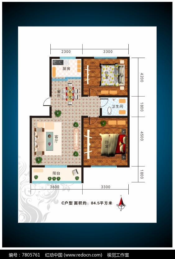 房地产户型图设计图片
