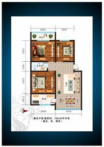 房地产户型图素材