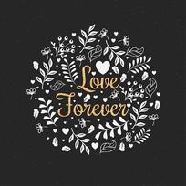 手绘花卉背景图案