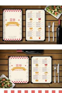 高档餐饮菜单菜谱模板