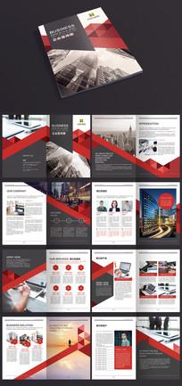 红色欧美商务时尚企业宣传册