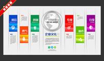 简洁企业文化宣传墙设计