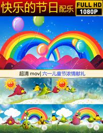 快乐的节日配乐背景视频