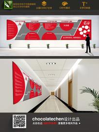 简约企业文化墙宣传展板
