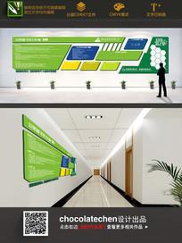 绿色特殊造型企业展板