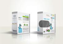 时尚宠物碗包装盒设计展开图ai AI