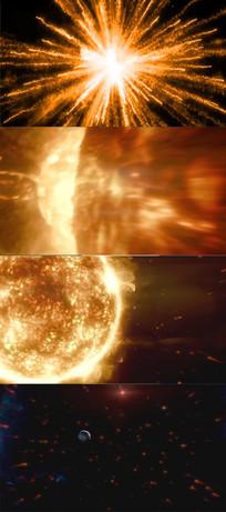 震撼的太阳系爆炸视频
