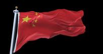 4k超高清国旗飘扬动态视频素材