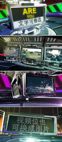 ae三维机械电子屏视频展示模板