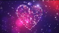 爱心钻石婚庆视频素材