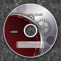 暗红色齿轮技术企业光盘