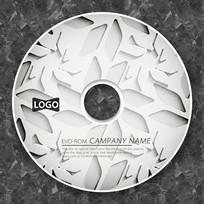 白色凹凸质感花纹光盘设计